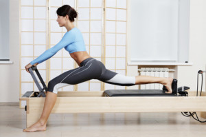 Pilates on larger equipment -Reformer